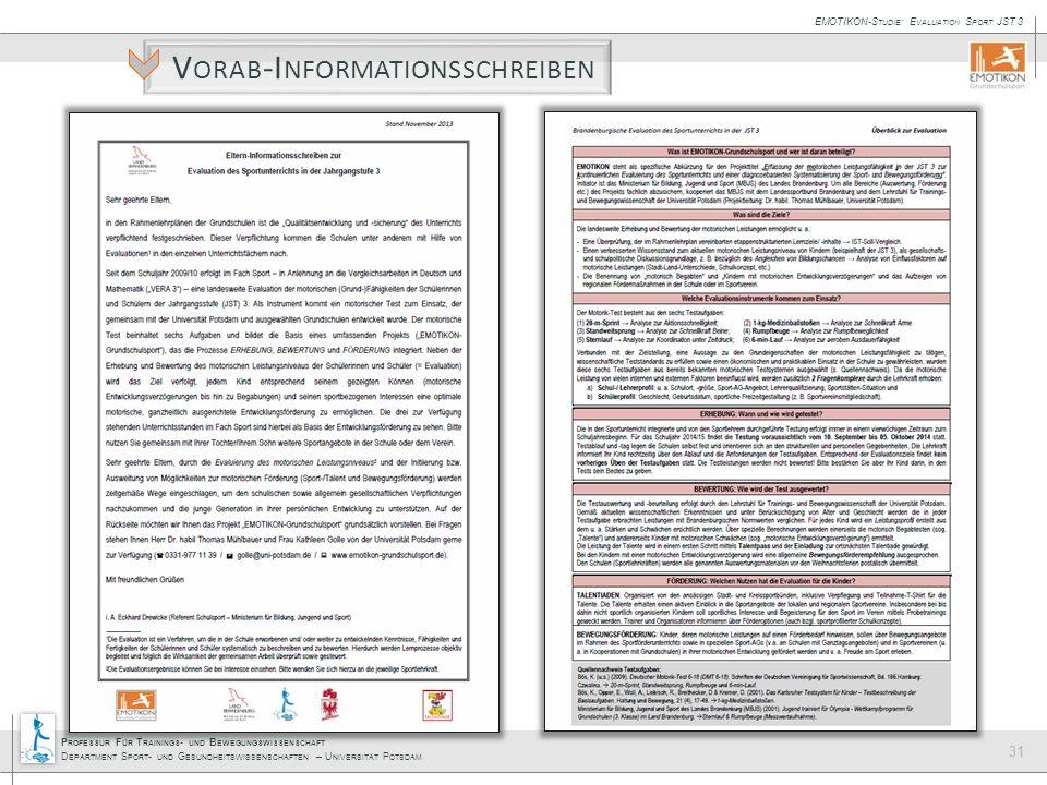 Vorab-Informationsschreiben