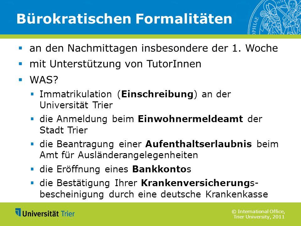 Bürokratischen Formalitäten