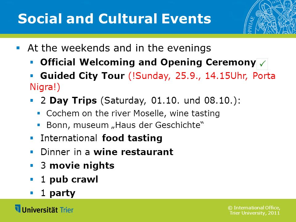 Social and Cultural Events
