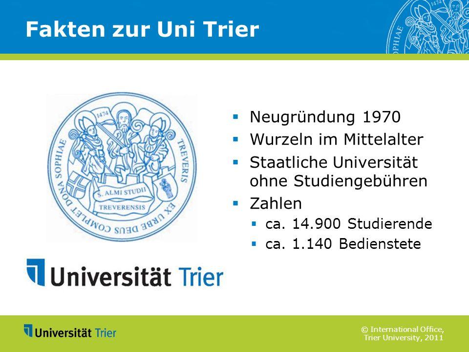 Fakten zur Uni Trier Neugründung 1970 Wurzeln im Mittelalter