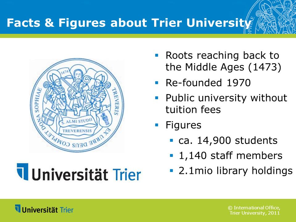 Facts & Figures about Trier University
