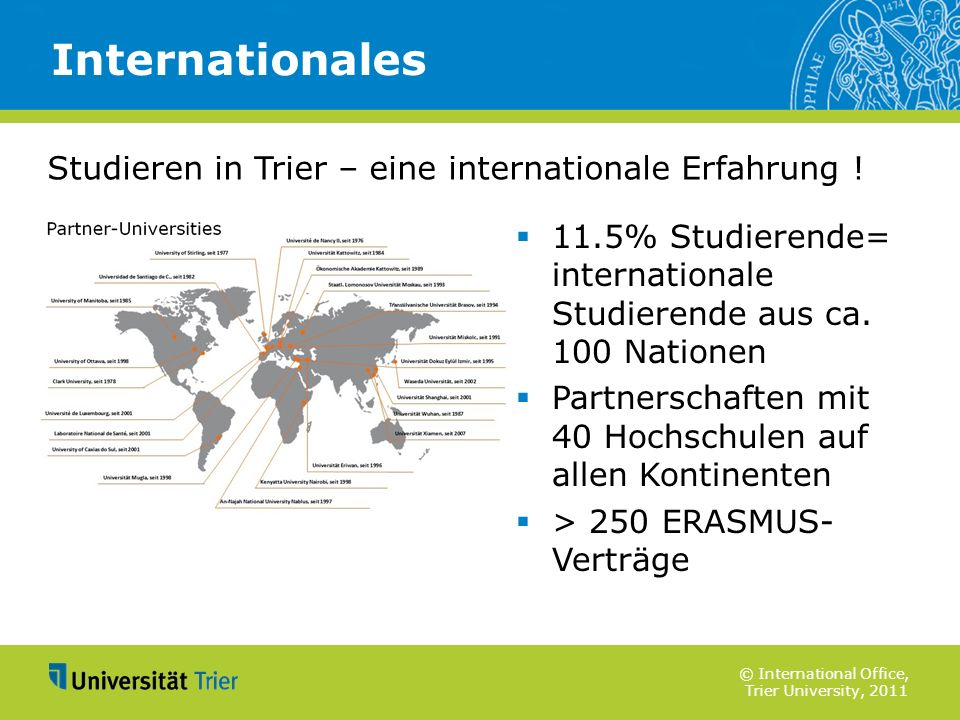 Internationales Studieren in Trier – eine internationale Erfahrung !