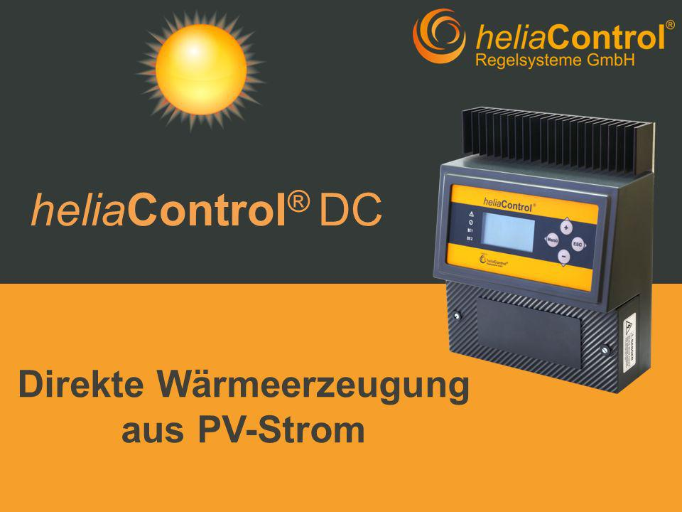 Direkte Wärmeerzeugung aus PV-Strom