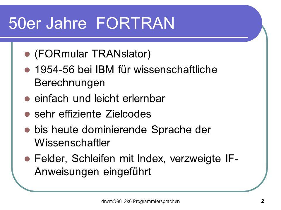 drwm©98..2k6 Programmiersprachen