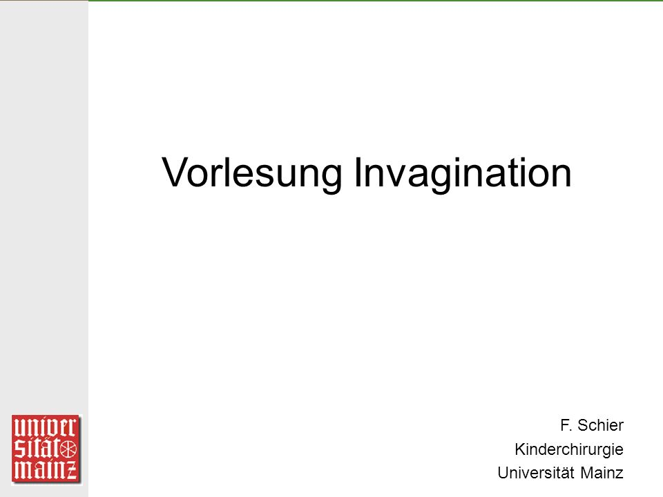 Vorlesung Invagination