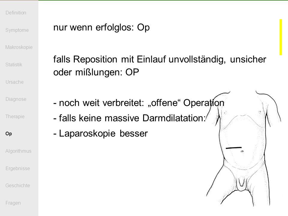 """- noch weit verbreitet: """"offene Operation"""