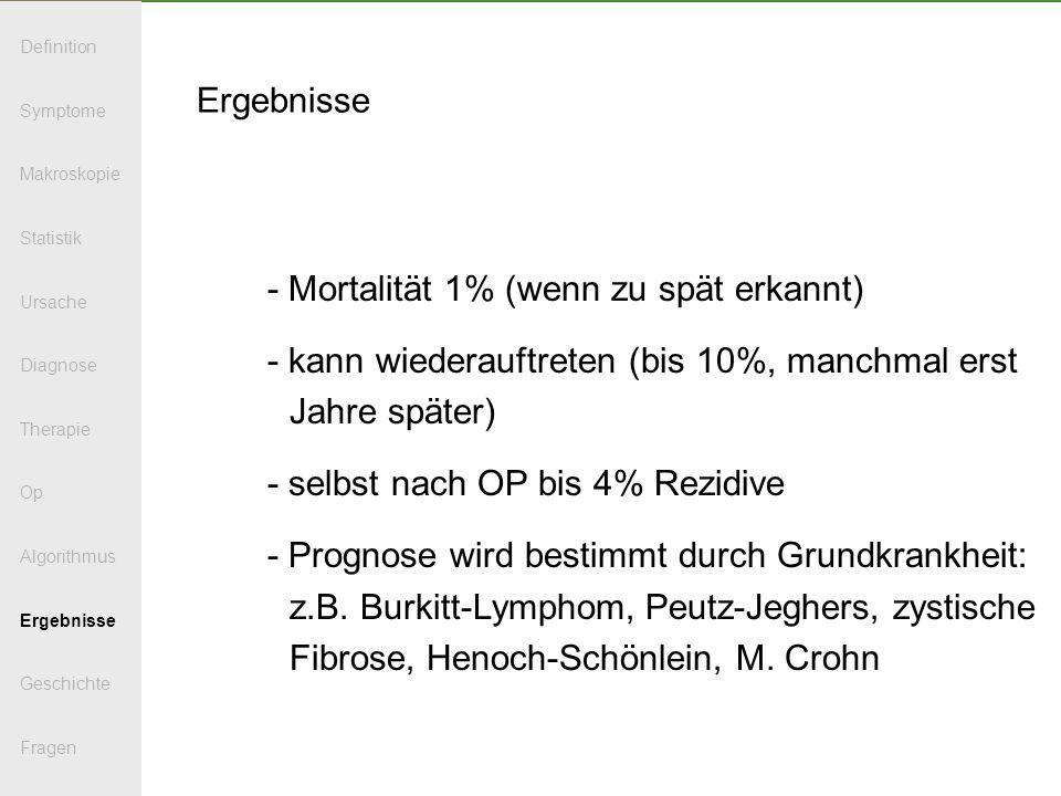 - Mortalität 1% (wenn zu spät erkannt)
