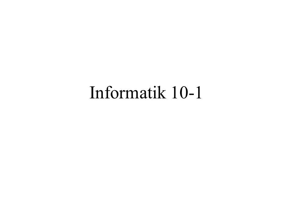 Informatik 10-1