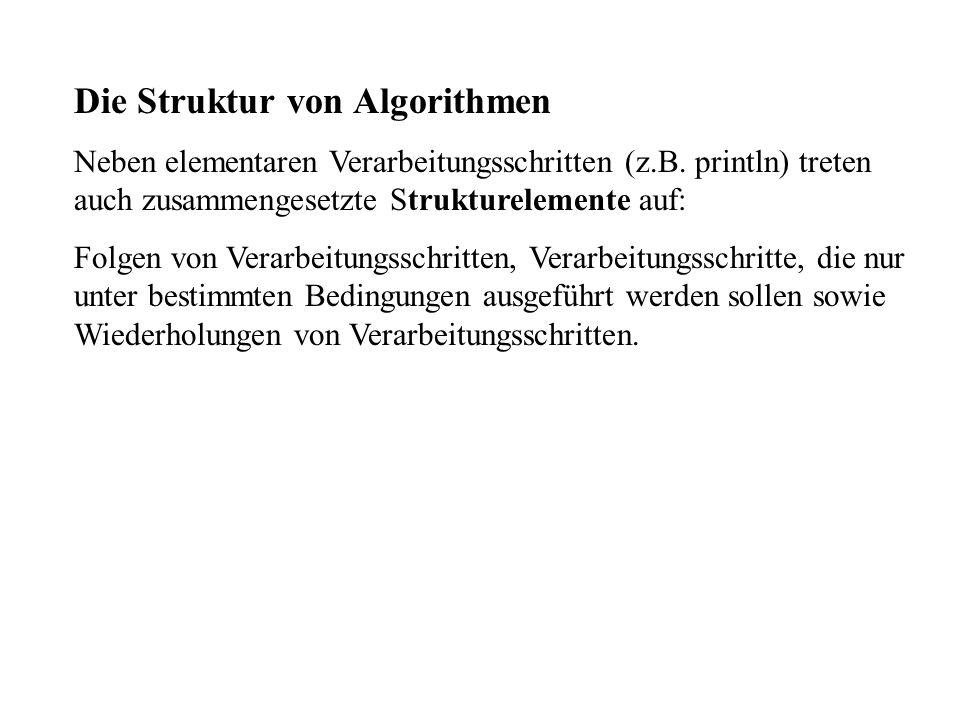 Die Struktur von Algorithmen