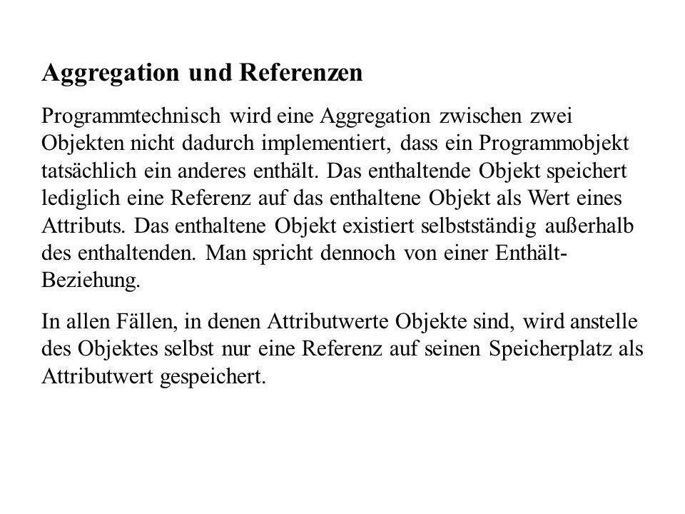Aggregation und Referenzen