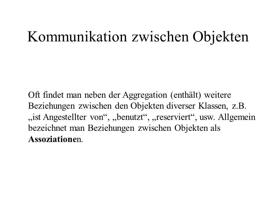 Kommunikation zwischen Objekten