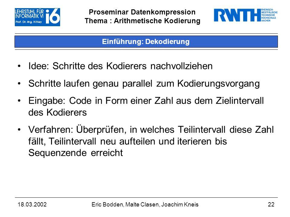 Einführung: Dekodierung