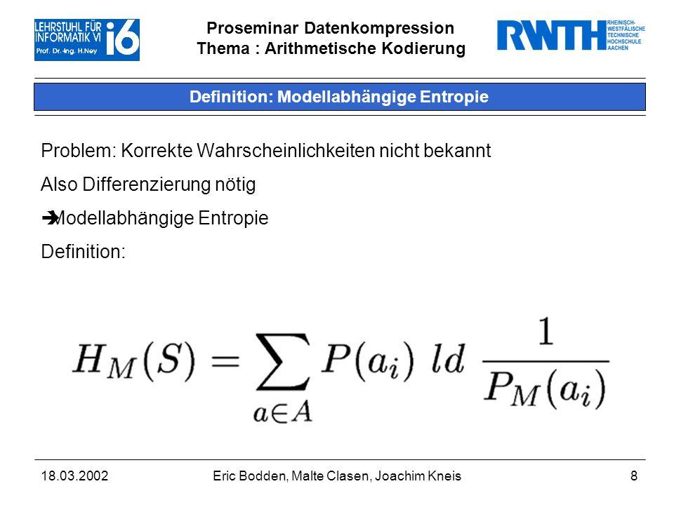 Definition: Modellabhängige Entropie