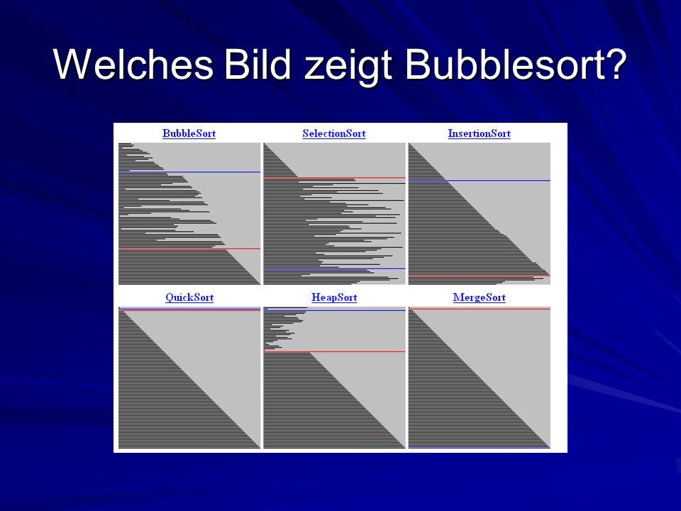 Welches Bild zeigt Bubblesort