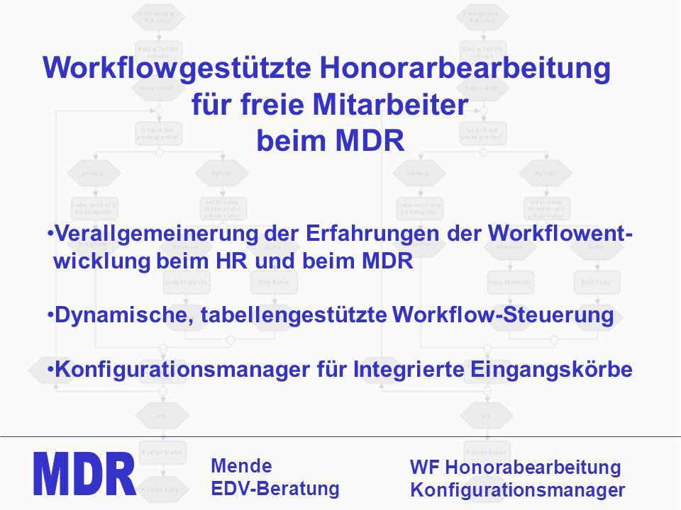 Workflowgestützte Honorarbearbeitung