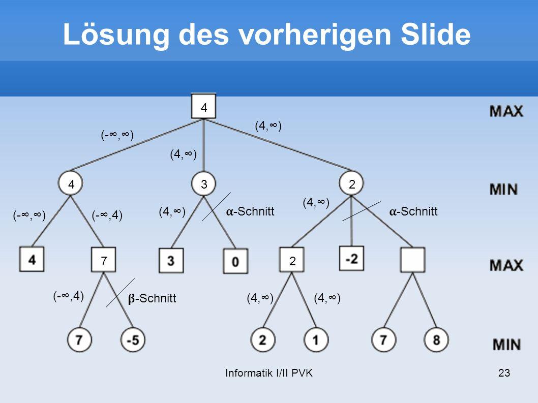 Lösung des vorherigen Slide
