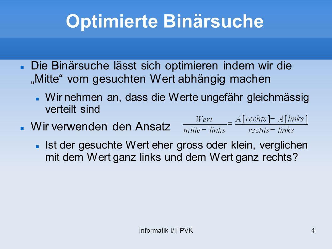Optimierte Binärsuche