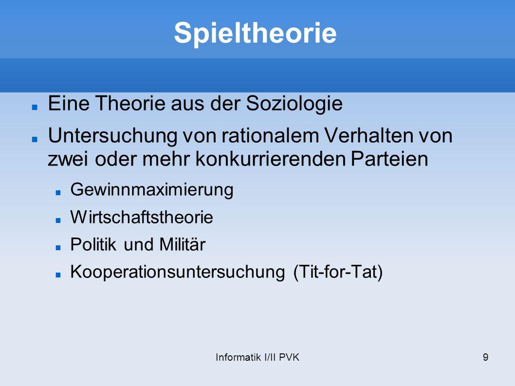 Spieltheorie Eine Theorie aus der Soziologie