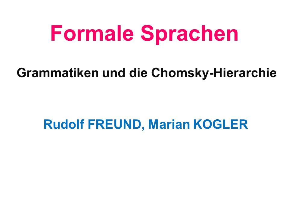 Formale Sprachen Grammatiken und die Chomsky-Hierarchie