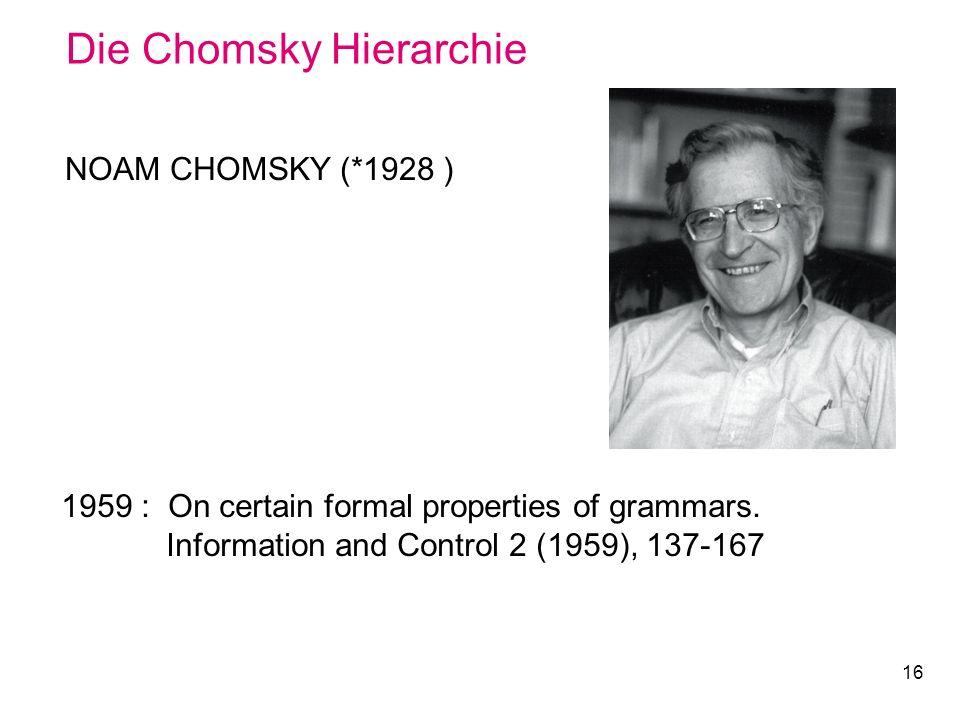 Die Chomsky Hierarchie
