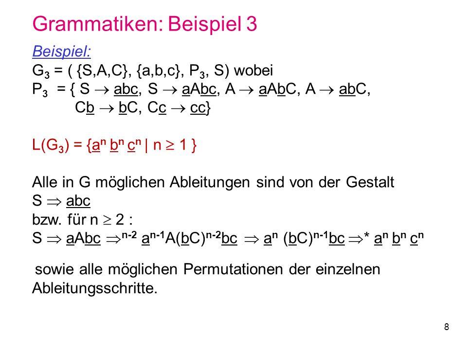 Grammatiken: Beispiel 3