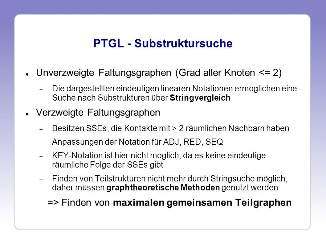 PTGL - Substruktursuche