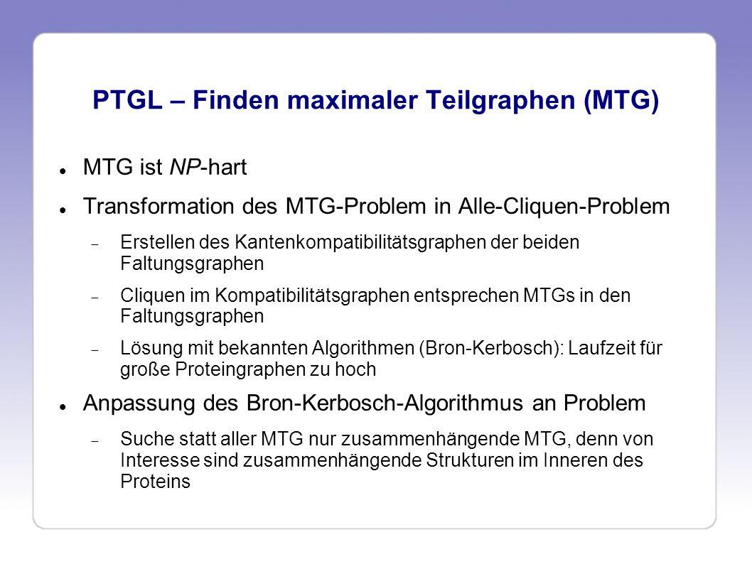 PTGL – Finden maximaler Teilgraphen (MTG)
