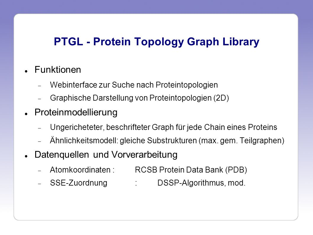 PTGL - Protein Topology Graph Library