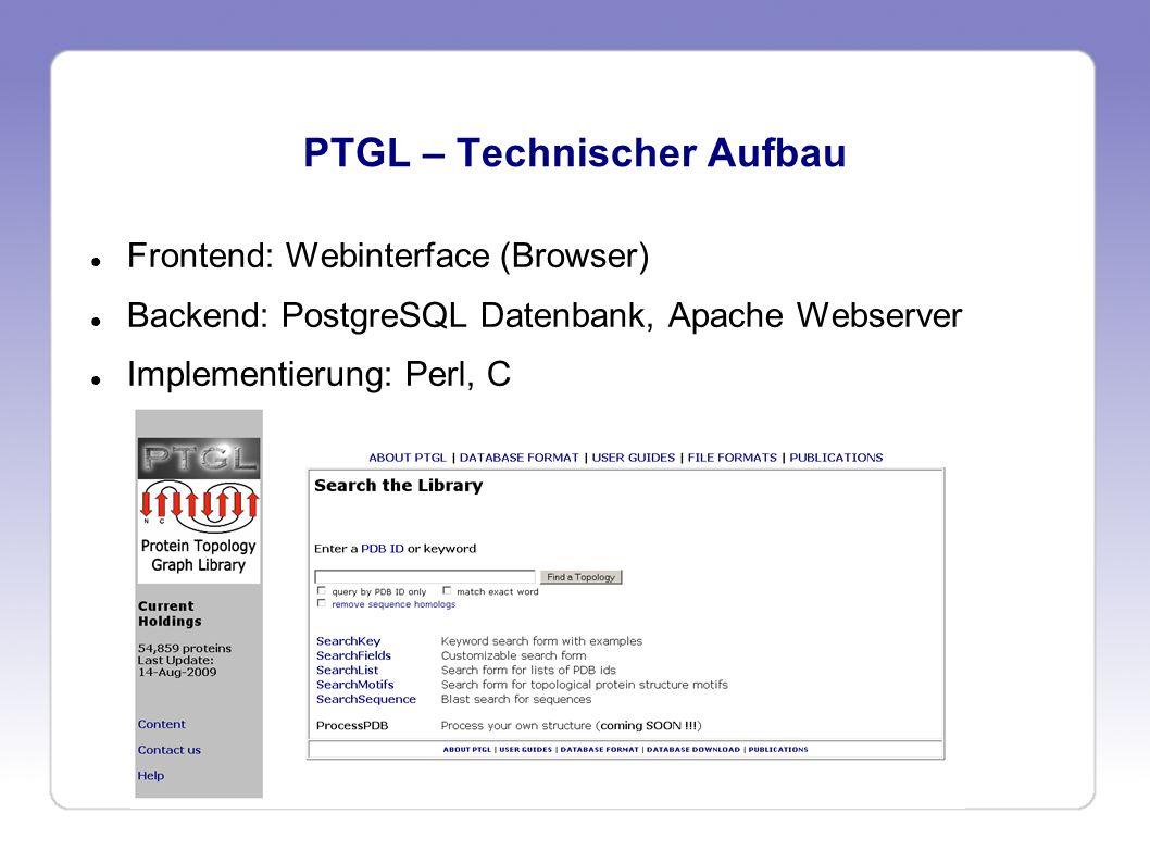 PTGL – Technischer Aufbau