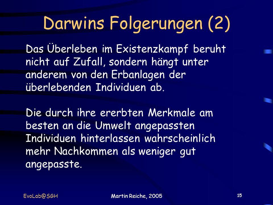 Darwins Folgerungen (2)