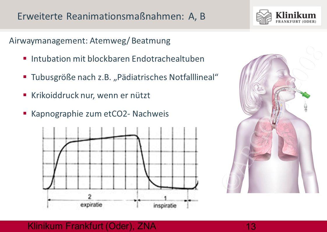 Erweiterte Reanimationsmaßnahmen: A, B