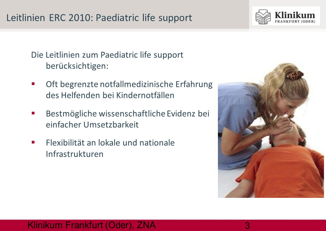 Leitlinien ERC 2010: Paediatric life support