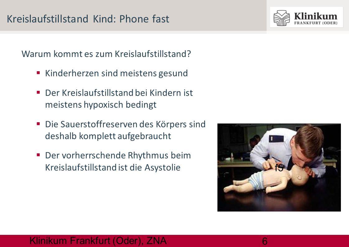 Kreislaufstillstand Kind: Phone fast