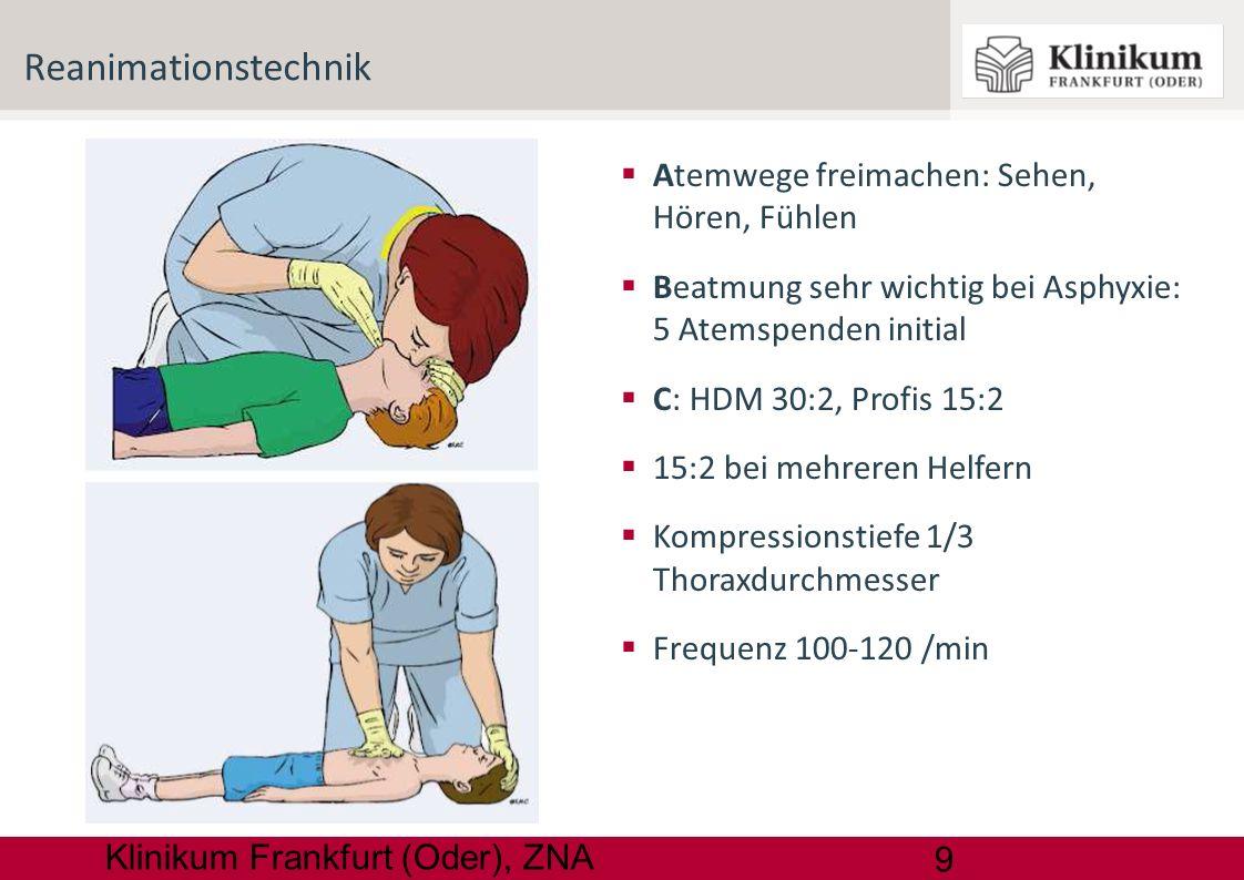 Reanimationstechnik Atemwege freimachen: Sehen, Hören, Fühlen