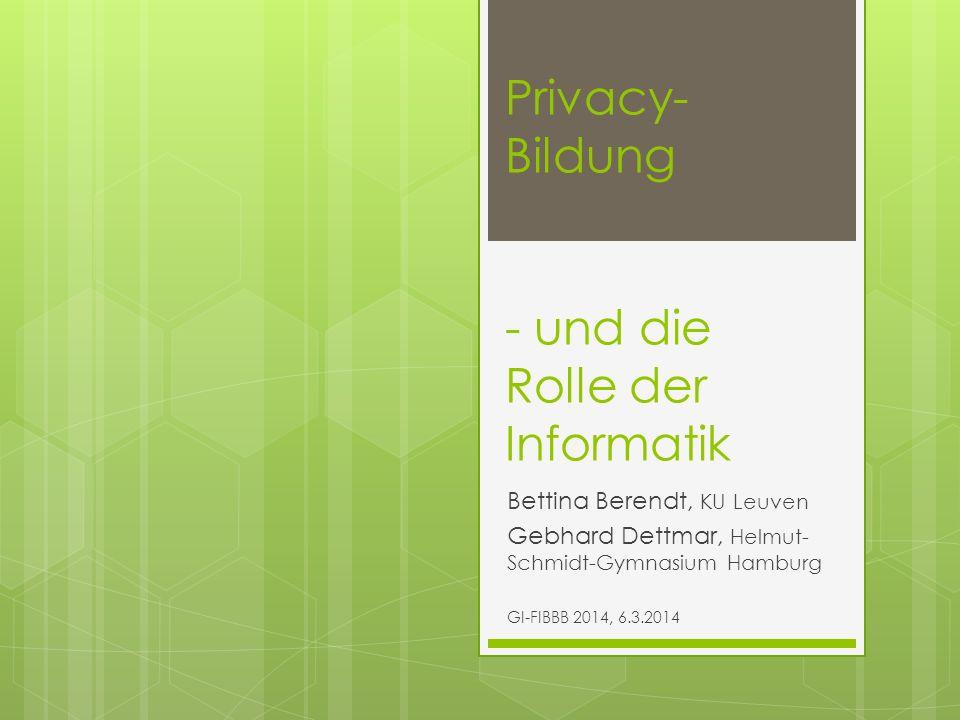 Privacy-Bildung - und die Rolle der Informatik