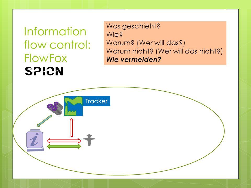 Information flow control: FlowFox