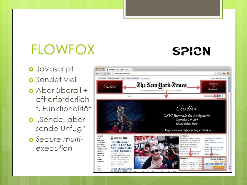 FLOWFOX Javascript Sendet viel