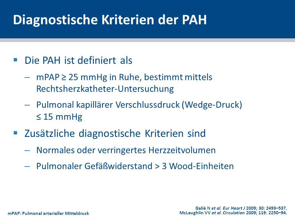 Diagnostische Kriterien der PAH