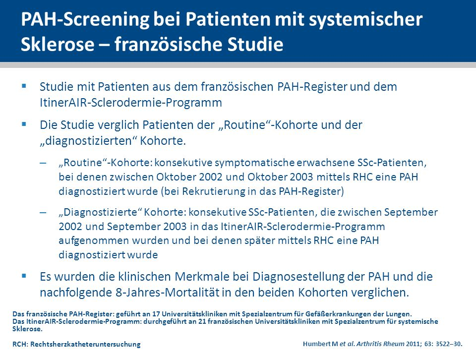 PAH-Screening bei Patienten mit systemischer Sklerose – französische Studie
