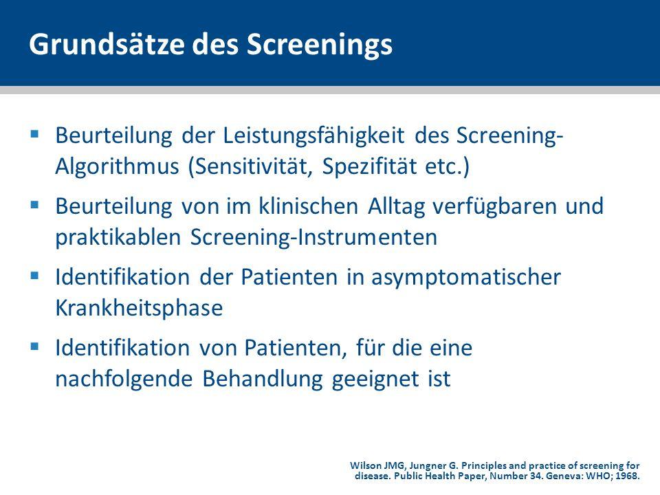 Grundsätze des Screenings
