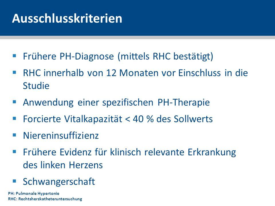 Ausschlusskriterien Frühere PH-Diagnose (mittels RHC bestätigt)