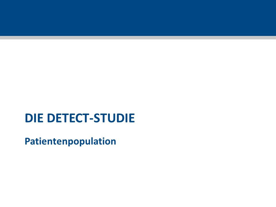 DIE DETECT-STUDIE Patientenpopulation