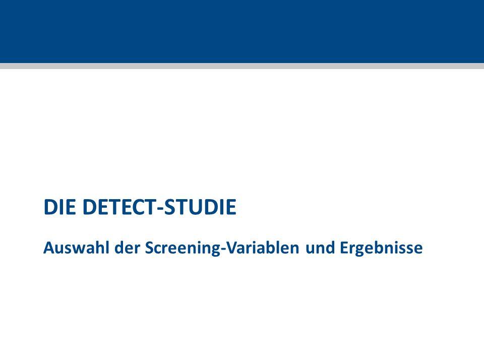 Auswahl der Screening-Variablen und Ergebnisse