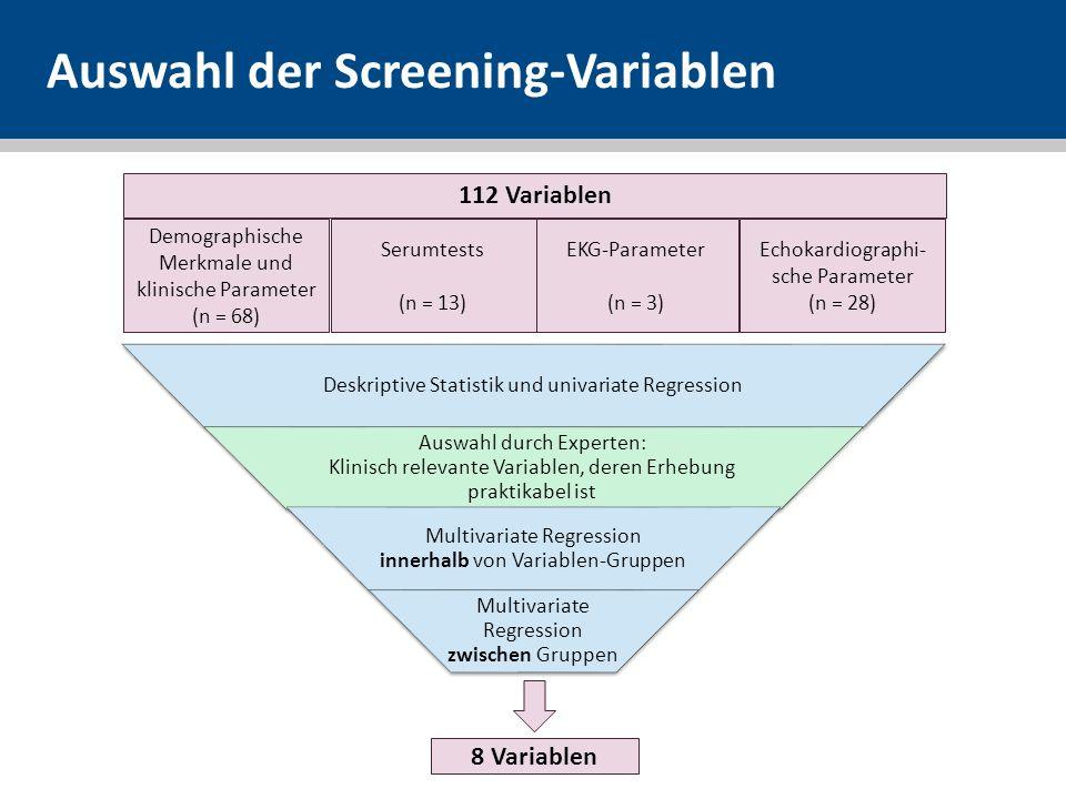 Auswahl der Screening-Variablen
