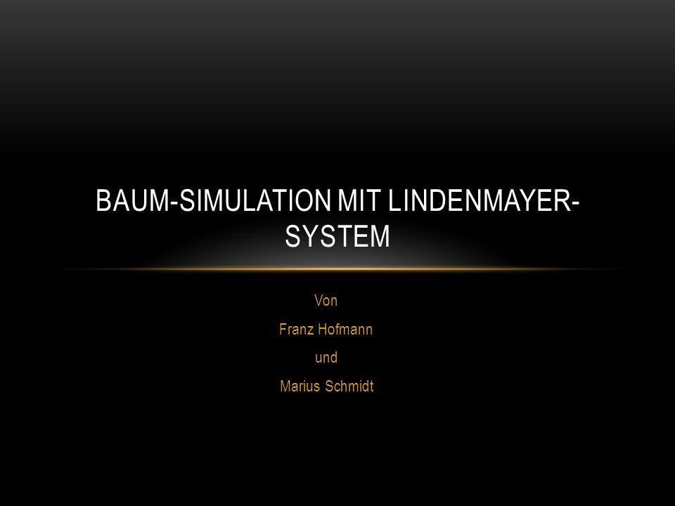 Baum-Simulation mit Lindenmayer-System