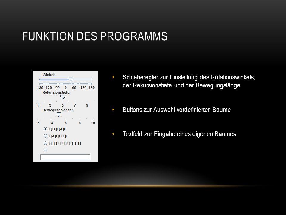 Funktion des Programms