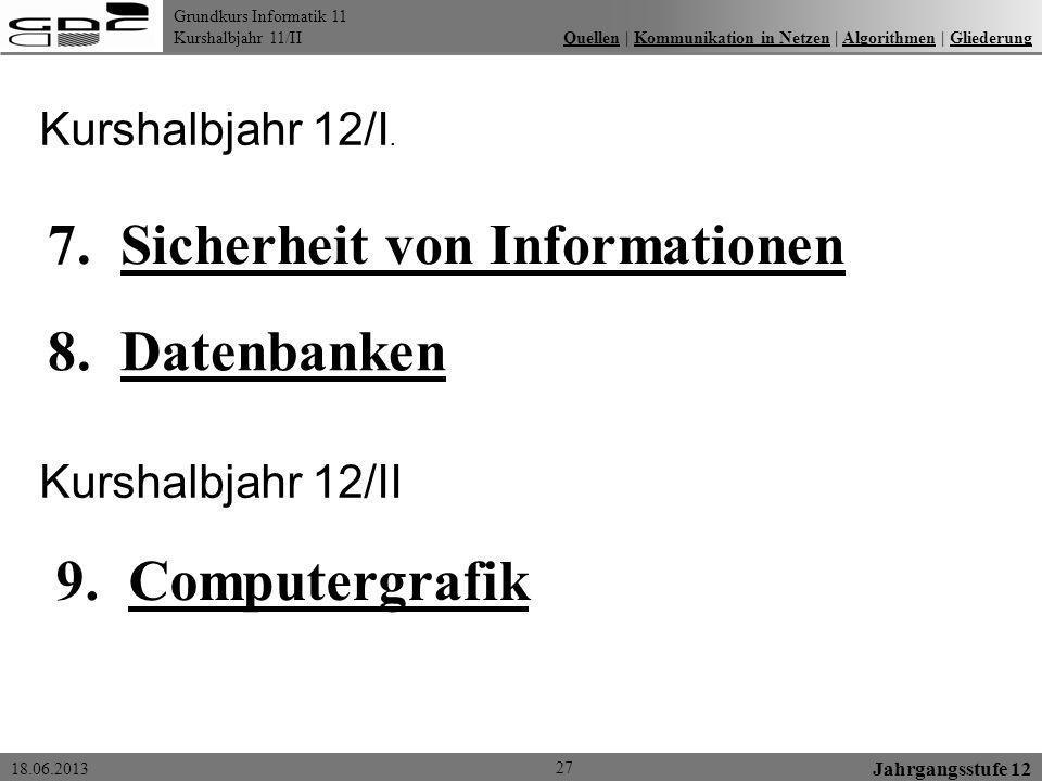 7. Sicherheit von Informationen