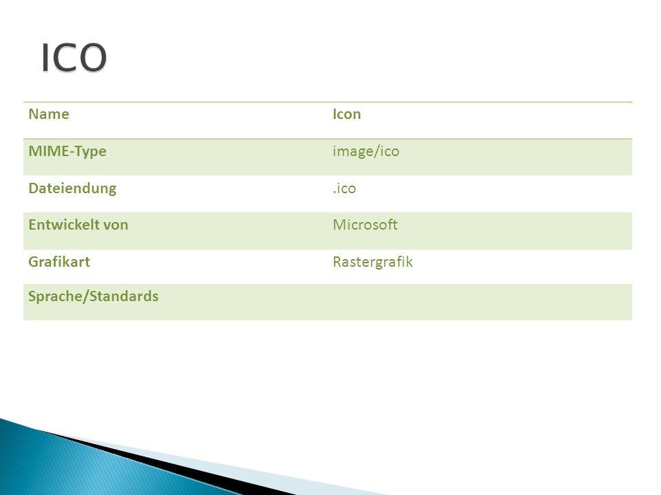 ICO Name Icon MIME-Type image/ico Dateiendung .ico Entwickelt von