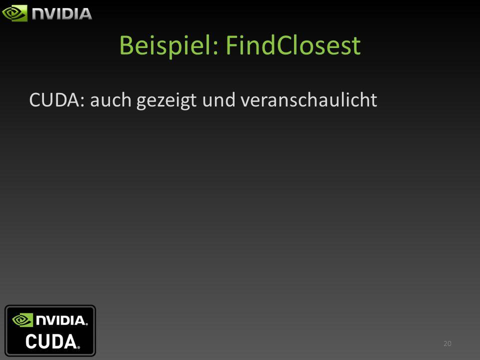 Beispiel: FindClosest
