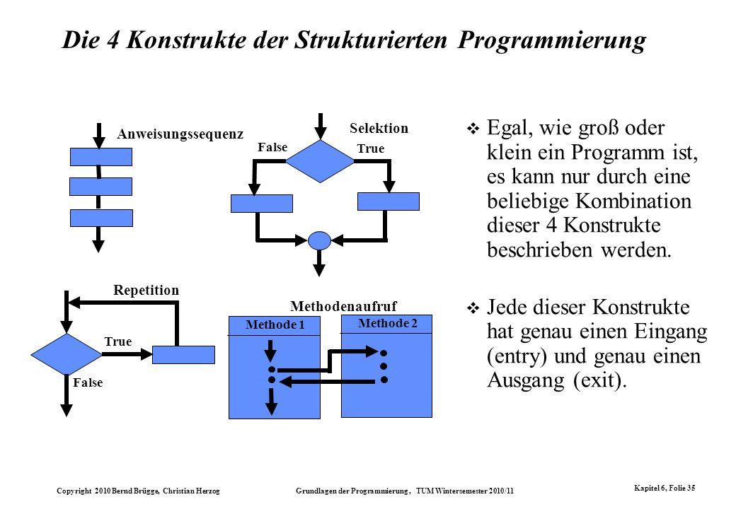 Die 4 Konstrukte der Strukturierten Programmierung